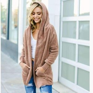 """NEW"" LUXE HOODED CARDIGAN"